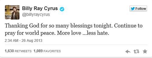Tweet Cyrus
