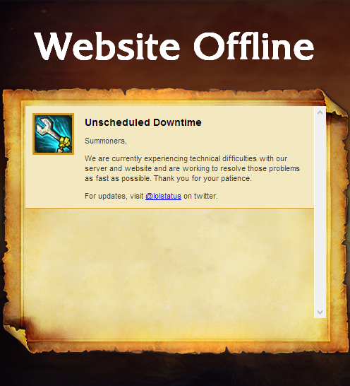 LoL Forums Down