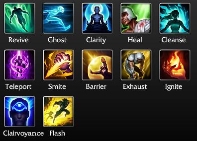 Summoner Spells So Far